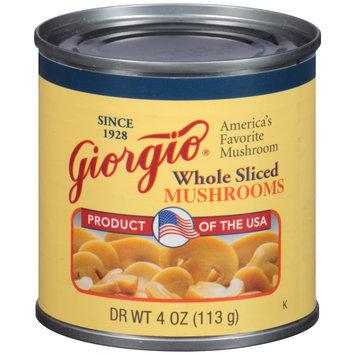 Giorgio® Whole Sliced Mushrooms 4 oz. Can