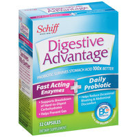 Schiff® Digestive Advantage® Fast Acting Enzymes + Daily Probiotic Dietary Supplement Capsules 32 ct Box