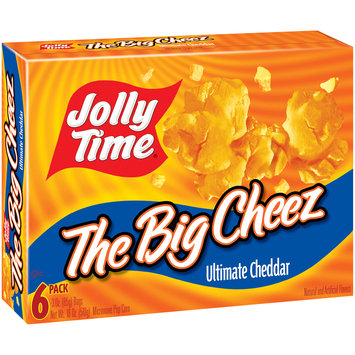 Jolly Time® The Big Cheez Ultimate Cheddar Microwave Pop Corn 6-3 oz. Bags