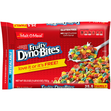 Malt-O-Meal® Fruity Dyno-Bites® Cereal 25.5 oz. ZIP-PAK®
