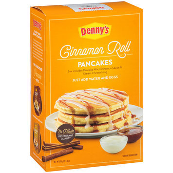 Denny's® Cinnamon Roll Pancake Mix 19.5 oz. Box