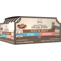 Nutro™ Perfect Portions™ Grain Free Cuts in Gravy Real Tuna/Real Salmon and Shrimp Adult Cat Food 24-1.32 oz. Pack