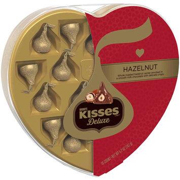 Kisses Deluxe Hazelnut Chocolates Heart Shaped Gift Box