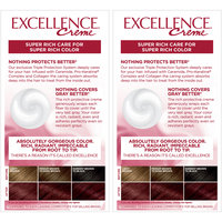 L'Oreal® Paris Excellence® Creme Hair Color 4RM Dark Mahogany Red 2-1 Kit Boxes