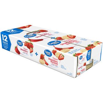 Great Value™ Original Strawberry & Strawberry Banana Lowfat Yogurt Variety Pack 1 Cups