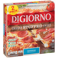 DIGIORNO Cheese Stuffed Crust Pepperoni Frozen Pizza 2-Pack
