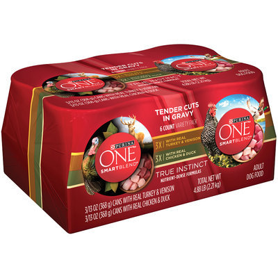 Purina ONE SmartBlend True Instinct Tender Cuts in Gravy Variety Pack 6-13 oz. Cans