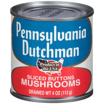 Pennsylvania Dutchman Sliced Buttons Mushrooms 4 oz. Can