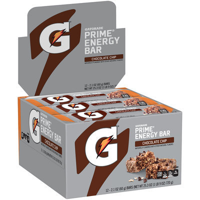 Gatorade Prime® Chocolate Chip Energy Bars 12-2.1 oz. Bars