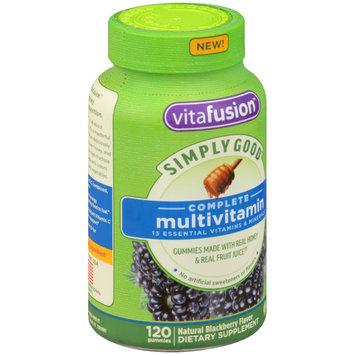 Vitafusion™ Simply Good™ Complete Multivitamin Blackberry Dietary Supplement Gummies 120 ct Bottle