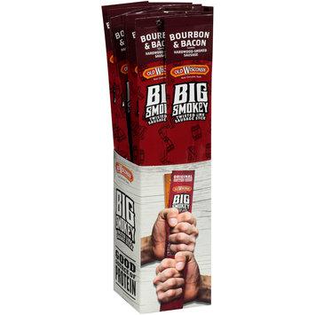 Old Wisconsin® Big Smokey Bourbon & Bacon Twisted Link Sausage Stick Display 14-2.5 oz. Packs