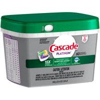 Cascade® Platinum™ Lemon Scent Dishwasher Detergent Actionpacs™ 33.4 oz. Plastic Tub