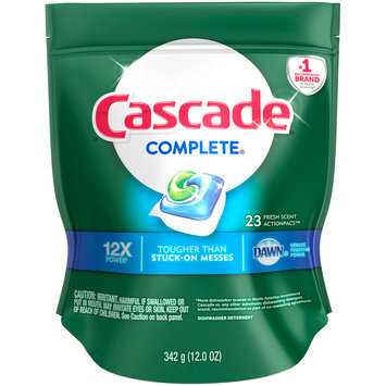 Cascade® Complete® Dawn® Fresh Scent Action Pacs™ Dishwasher Detergent 23 ct Pouch