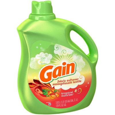 Gain® Tropical Sunrise™ Liquid Fabric Softener 129 fl. oz. Plastic Jug