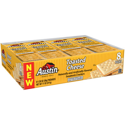 Austin® Toasted Cheese Sandwich Crackers 8-1.38 oz. Packs