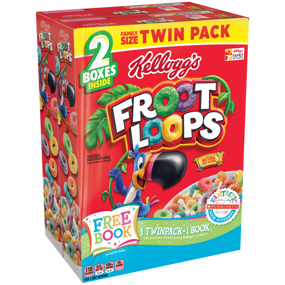 Kellogg's® Froot Loops® Cereal 2-21.7 oz. Boxes