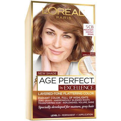 L'Oreal® Paris Excellence® Age Perfect™ 5CB Medium Soft Chestnut Brown Hair Color 1 kt Box