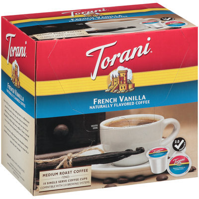 Torani® French Vanilla Medium Roast Coffee Single Serve Coffee Cups 18 ct Box