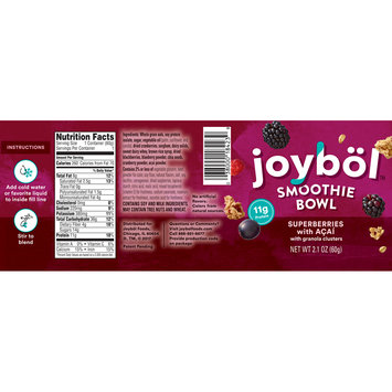 Joybol™ Superberries with Acai Smoothie Bowl with Granola Clusters 2.1 oz. Bowl