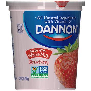 Brand Dannon® Blended Whole Milk Yogurt Strawberry 32oz Quart