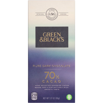 Green & Black's 70% Cacao Pure Dark Chocolate 3.17 oz. Pack