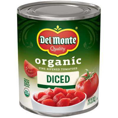 Del Monte® Organic Diced Vine-Ripened Tomatoes 28 oz. Can