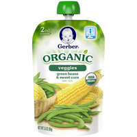 Gerber® 2nd Foods® Organic Green Beans & Sweet Corn Baby Food 3.5 oz. Pouch (Pack of 12)