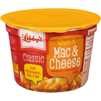 Libby's® Classic Quick Mac & Cheese Dinner 2.05 oz. Microcup