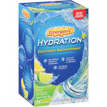 Emergen-C® Lemon-Lime Twist Hydration™ + Electrolyte Replenishment Sports Drink Mix 18-0.33 oz. Packets