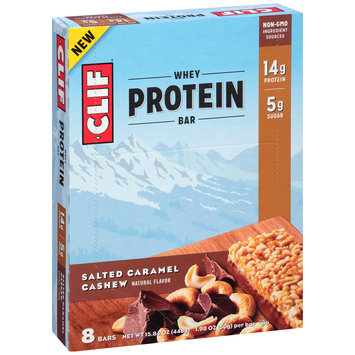 Clif® Salted Caramel Cashew Whey Protein Bars 8-1.98 oz. Bars