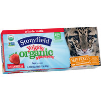Stonyfield® Yokids® Organic Squeezers® Strawberry Whole Milk Yogurt 8-2 oz Tubes