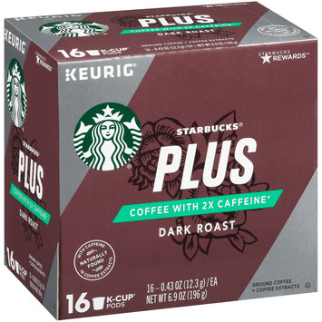 Starbucks® Plus Dark Roast Ground Coffee + Coffee Extracts 1 K-Cup® Pods