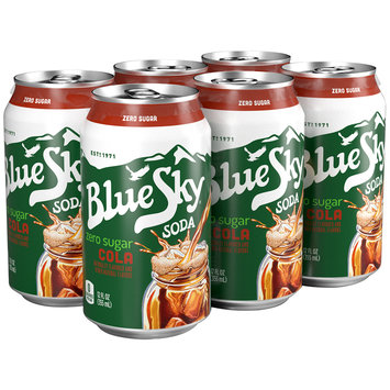 Blue Sky® Zero Sugar Cola Soda 6-12 fl. oz. Cans
