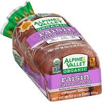 Alpine Valley™ Organic Raisin Cinna-Wheat Bread 18 oz. Bag