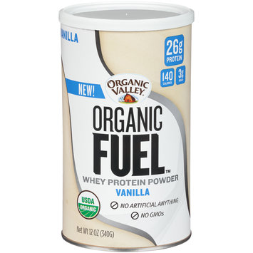 Organic Valley® Organic Fuel™ Vanilla Whey Protein Powder 12 oz. Canister