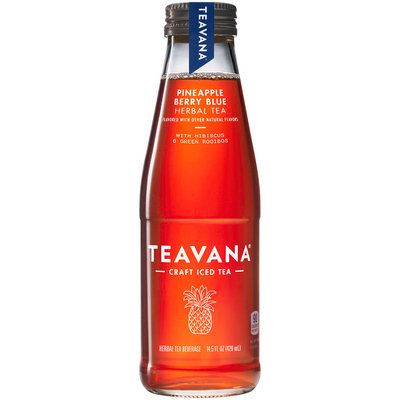 Teavana® Pineapple Berry Blue Iced Herbal Tea 14.5 fl. oz. Glass Bottle