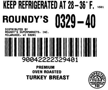 Roundy's® Premium Oven Roasted Turkey Breast, 1 count Package