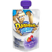 Dannon® Danimals® Lowfat Yogurt Pouches Mixed Berry Blast 3.5oz 4 pack