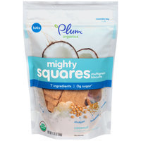 Plum® Organic Mighty Squares™ Coconut Multigrain Biscuits 1.76 oz. Bag