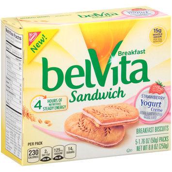belVita Sandwich Strawberry Yogurt Creme Breakfast Biscuits 5-2 ct Packs