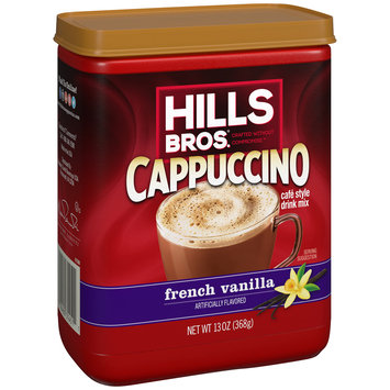 Hills Bros.® French Vanilla Cappuccino Cafe Style Drink Mix 13 oz. Can
