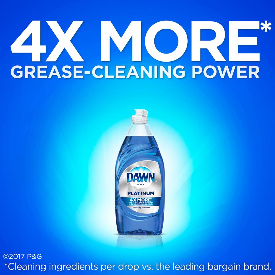 Platinum Dawn Dishwashing Liquid Dish Soap Refreshing Rain 24 oz