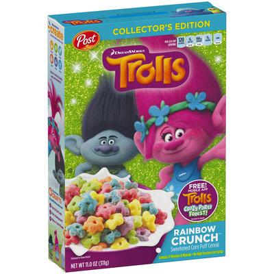Post® DreamWorks Trolls Rainbow Crunch™ Cereal 11.0 oz. Box
