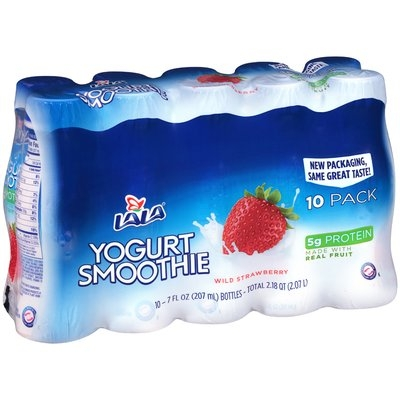 Lala® Wild Strawberry Yogurt Smoothie 10-7 fl. oz. Plastic Bottles