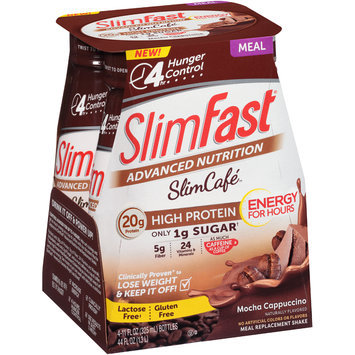 SlimFast® Advanced Nutrition Slim Cafe Mocha Cappuccino Meal Replacement Shakes 4-11 fl. oz. Bottles