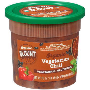 Blount Organic Vegetarian Gluten Free Organic Vegetarian Chili 16 oz. Tub