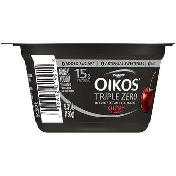 Dannon® Oikos® Triple Zero Blended Greek Nonfat Yogurt Cherry 5.3 oz. Single Serve
