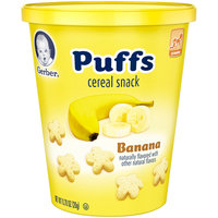 Gerber Puffs Banana Snack Cup, 0.70 oz (Pack of 8)