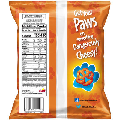 Cheetos® Paws® Cheese Flavored Snacks 2.63 oz. Bag