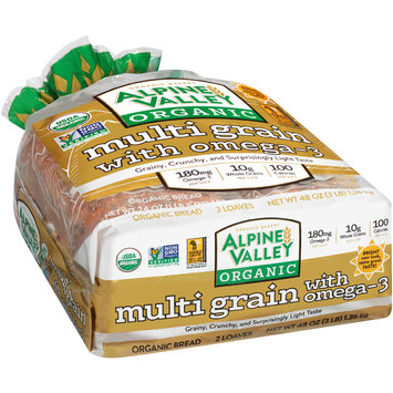Alpine Valley™ Organic Multi Grain with Omega-3 Bread 2-24 oz. Loaves